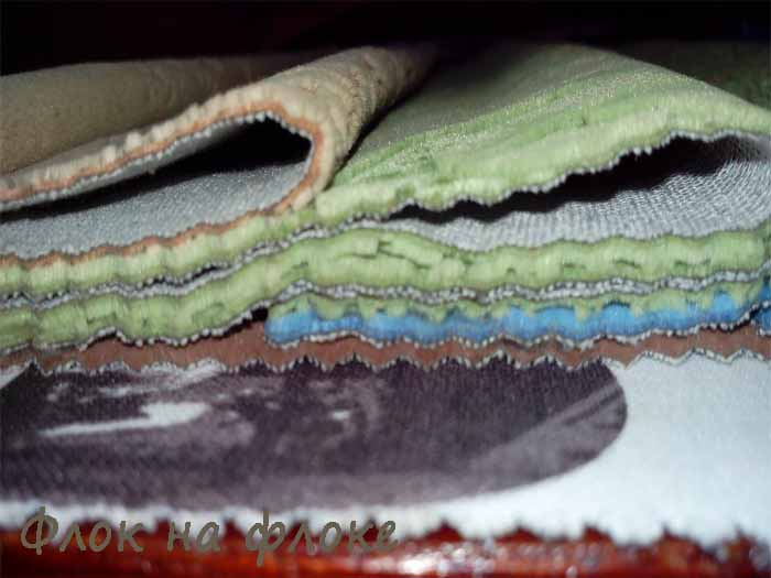 Ткань флок на флоке купить в Орле
